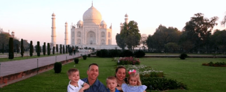 Taj Mahal-Agra family tour packages