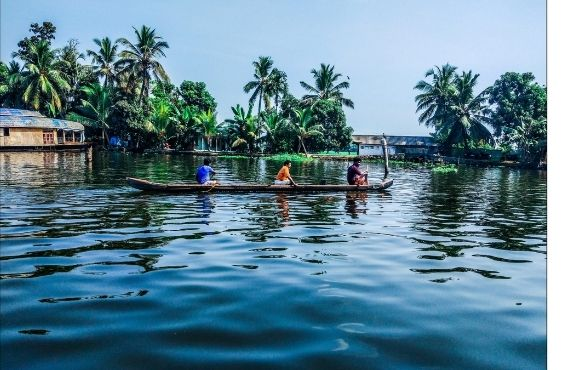 Exploring the Backwaters of Kerala.